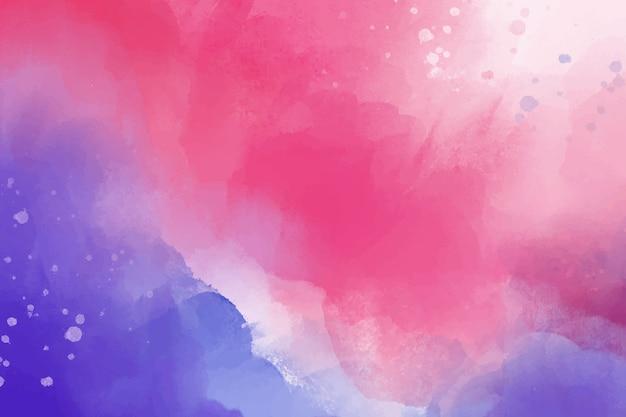 Акварельный фон с фиолетовым и розовым