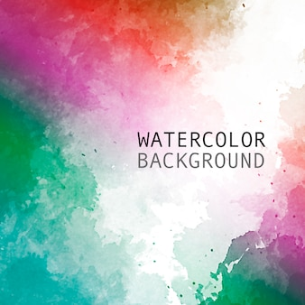Watercolor background with rainbow colors with space for text