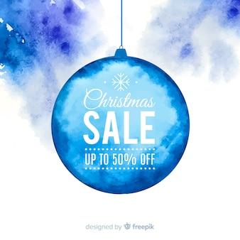 Watercolor ball christmas sale background