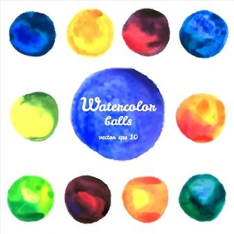 Watercolor balls