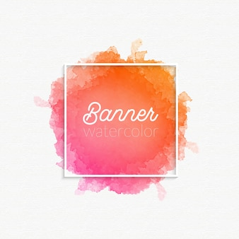 Watercolor banner gradient stain