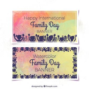 Banner acquerello del giorno famiglia internazionale