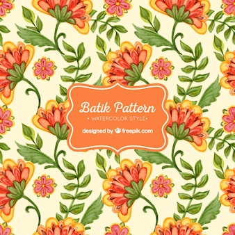 Watercolor batik pattern