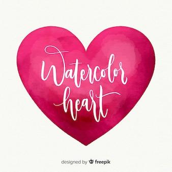 Watercolor big heart background