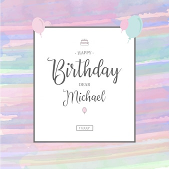 Watercolor Birthday Invitation Template