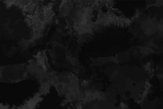 Акварель черная и темно-серая текстура и фон