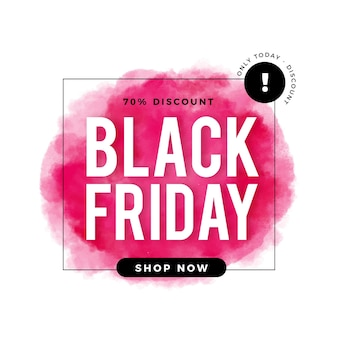 Watercolor black friday banner