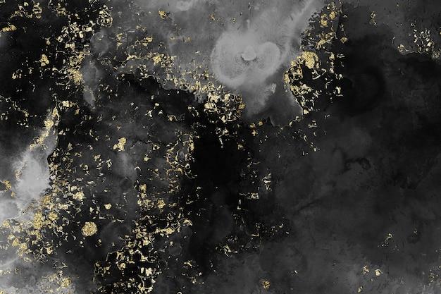 水彩黒キラキラ背景