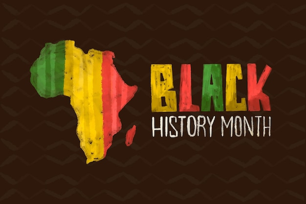 Watercolor black history month background