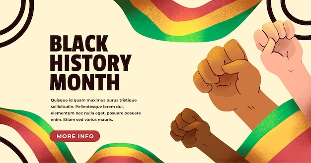 Watercolor black history month banner template