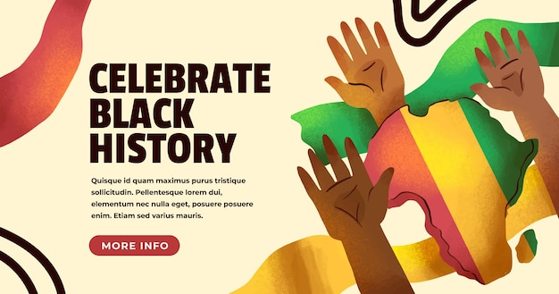 Watercolor black history month banner