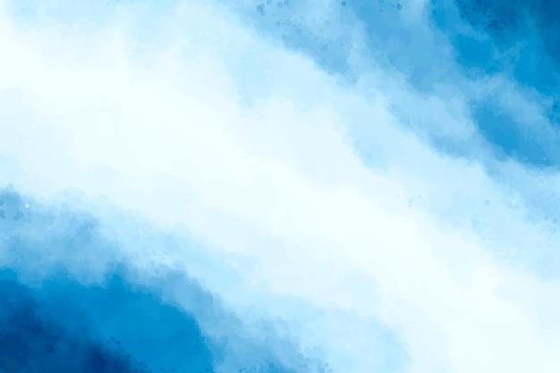 Acquerello sfondo astratto blu