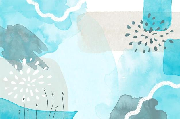 水彩の青い抽象的な背景