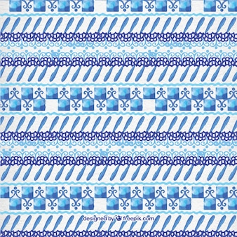 수채화 블루 추상 모양 패턴