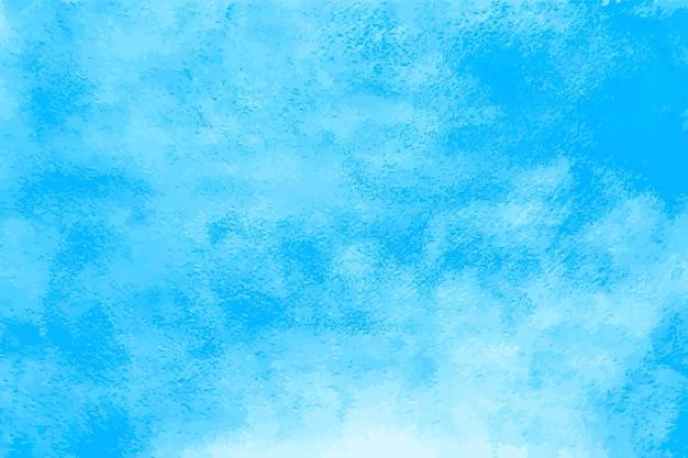 Акварель голубое небо. абстрактные пятна водной краски. картина океана с текстурой бумаги, нарисованная кистью. цвет летнего солнечного дня векторной графики. иллюстрация голубое небо акварель, всплеск пятно текстуры