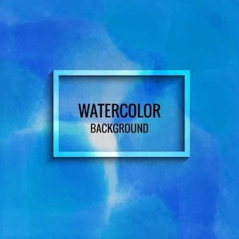 수채화 블루 벽지