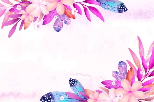 Watercolor boho background