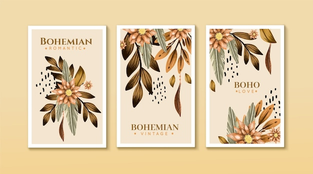 Watercolor boho cover pack