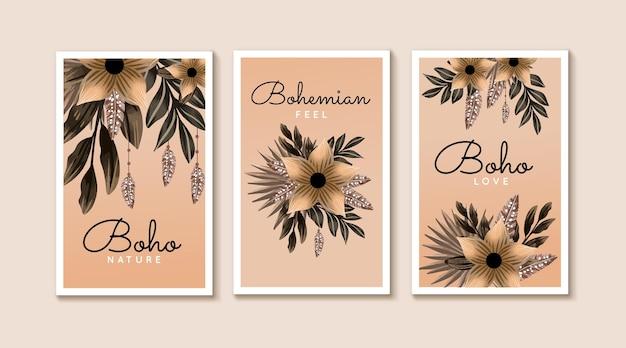Watercolor boho cover set