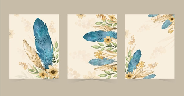 Watercolor boho covers collection