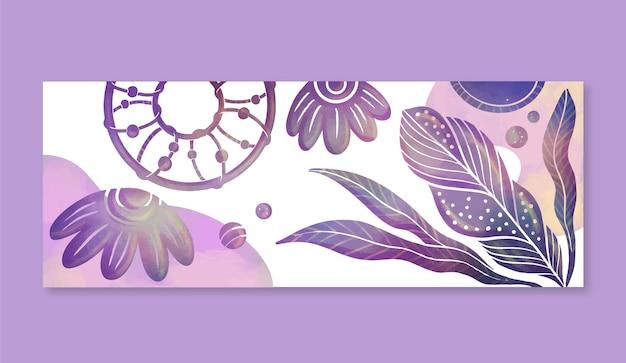 Watercolor boho facebook cover