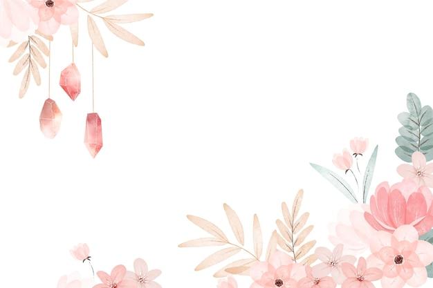 Акварель бохо цветочный фон