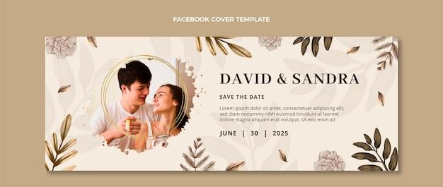 Свадебная обложка facebook в стиле бохо