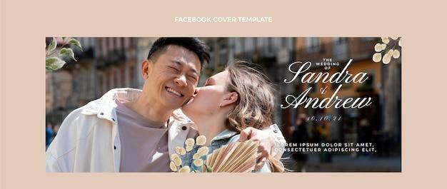 Copertina facebook di matrimonio boho ad acquerello