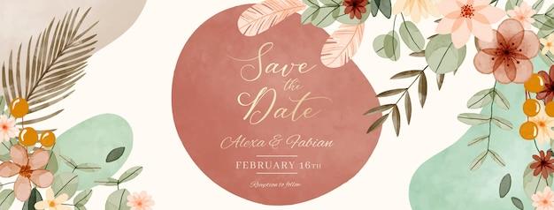 水彩自由奔放に生きる結婚式のfacebookの表紙