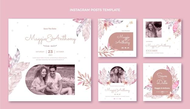 水彩自由奔放に生きる結婚式のinstagramの投稿