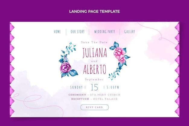 水彩自由奔放に生きる結婚式のランディングページ