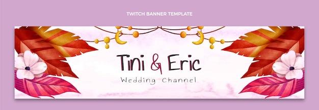 Акварель бохо свадебный подергивание баннер