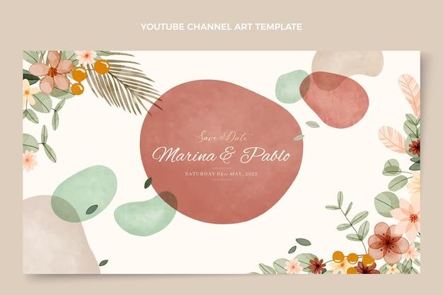 水彩自由奔放に生きる結婚式のyoutubeチャンネルアート