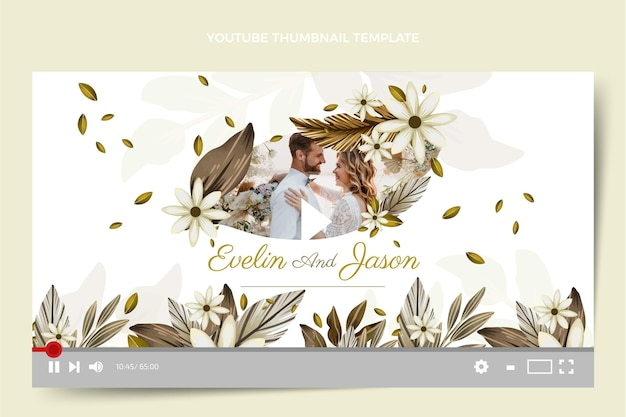 Акварельная свадьба в стиле бохо на youtube