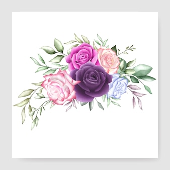 Watercolor bouquet design