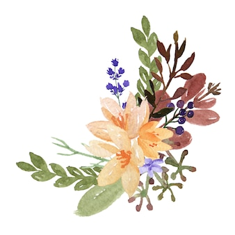 Watercolor bouquets florals
