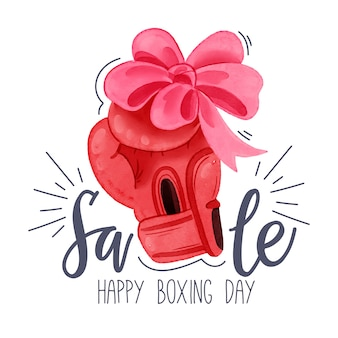Watercolor boxing day sale concept