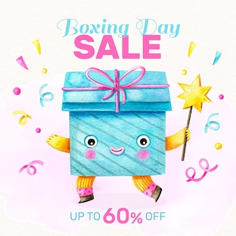 Watercolor boxing day sale