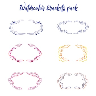 Watercolor brackets collection
