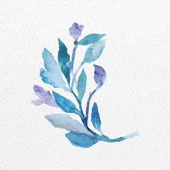 水彩画の枝のデザイン要素ベクトル