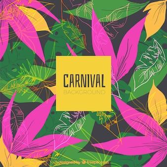 Акварельный бразильский карнавальный фон