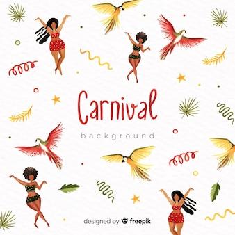 Watercolor brazilian carnival background