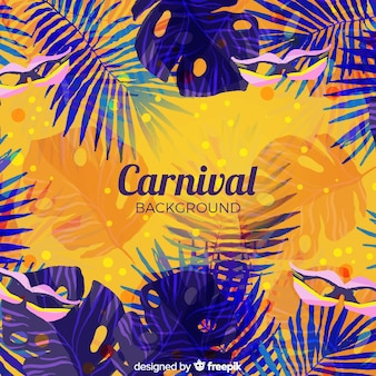 Watercolor brazilian carnival background