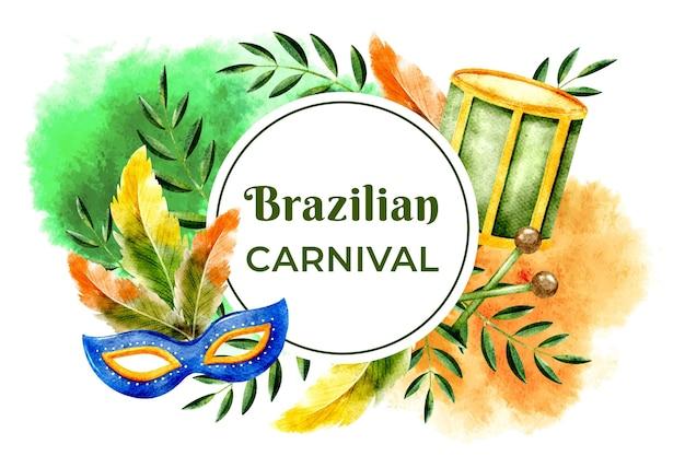 Акварельная концепция бразильского карнавала