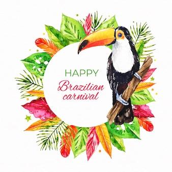 Watercolor brazilian carnival illustration