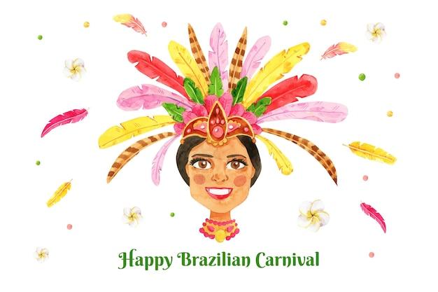 Акварель бразильский карнавал