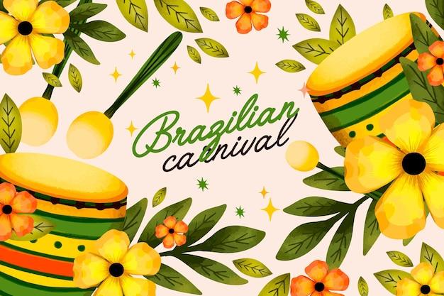 Watercolor brazilian carnival