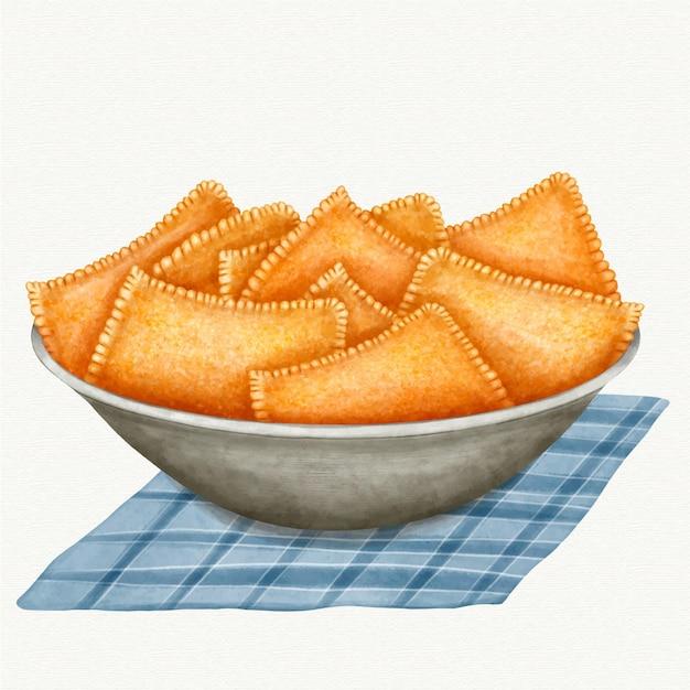 watercolor brazilian food