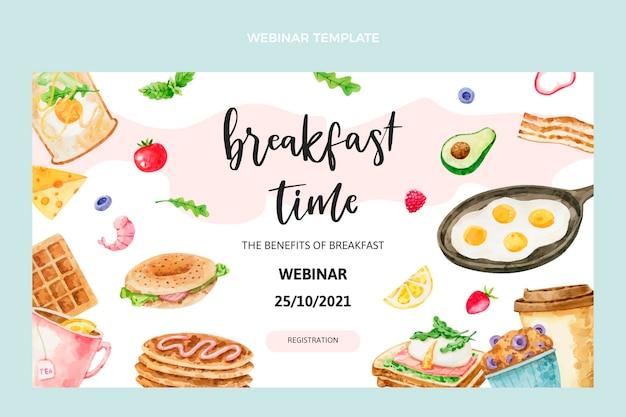 Webinar sulla colazione ad acquerello