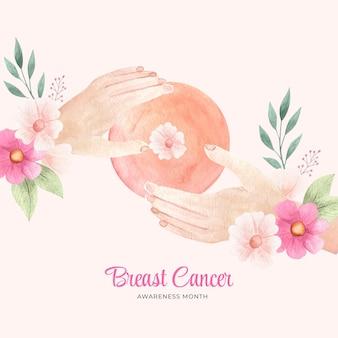 水彩乳がん啓発月間背景